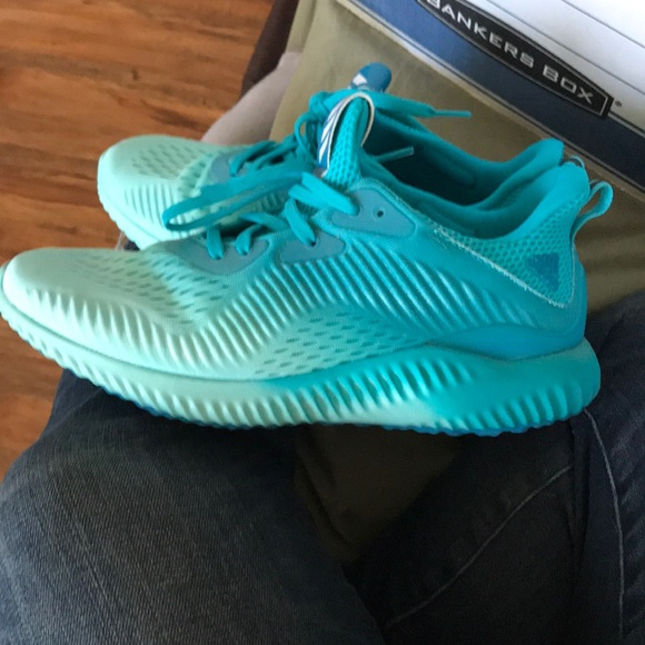 4e7b92082869b adidas Shoes - Adidas Alpha Bounce Blue Ombre Athletics Size 9